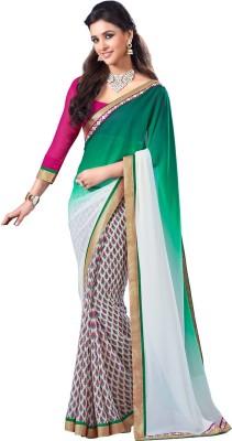 7 Rainbow Printed Bollywood Pure Georgette Sari