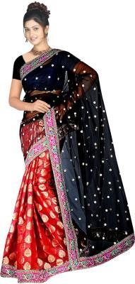 MGS Solid Fashion Brocade Sari