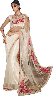Needle Impression Self Design Fashion Handloom Net Sari