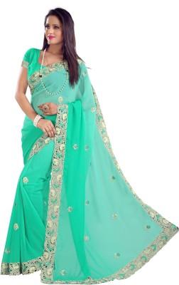 Sajavat Embriodered Bollywood Georgette Sari