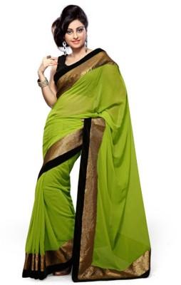 Styloce Self Design Bollywood Handloom Georgette Sari