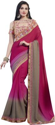 Zenny Creation Solid Bollywood Jacquard Sari