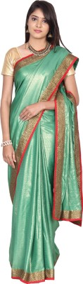 Paisley Couture Solid Fashion Shimmer Fabric Sari