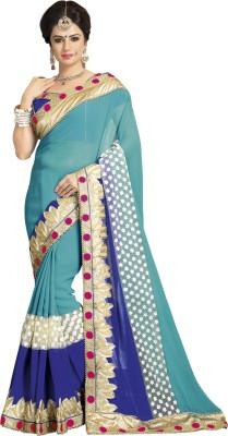 Daksh Enterprise Embriodered Daily Wear Satin, Georgette Sari