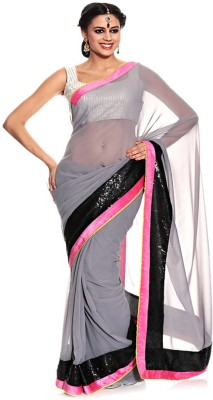 Jay Maa Ambey Creation Embriodered Fashion Georgette Sari