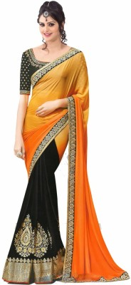 Al Zareen Self Design Bollywood Georgette Sari