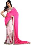 Divy Embroidered Fashion Chiffon Saree (...