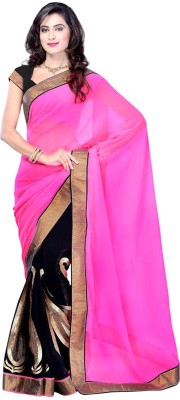 Your Fashions Self Design, Solid Bollywood Chiffon Sari