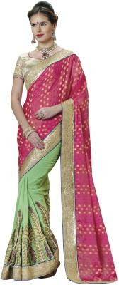 JTInternational Self Design Bollywood Brasso Sari
