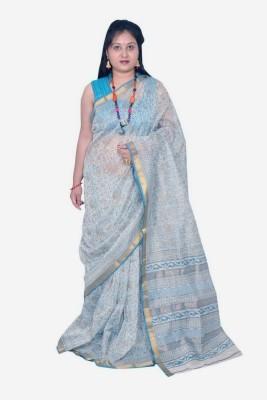Rashmi Boutique Printed Maheshwari Silk Sari