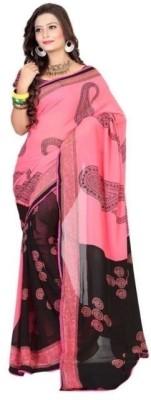 Fabfiza Self Design Fashion Chiffon Sari