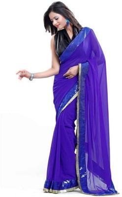 Touch Fashion Plain Bollywood Chiffon Sari