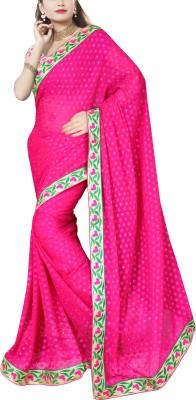 Awesome Self Design Fashion Georgette Sari