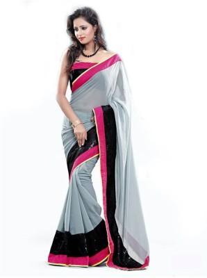 Suryajoti Self Design Fashion Handloom Georgette Sari