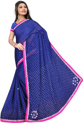 HSFS Self Design Daily Wear Georgette Sari