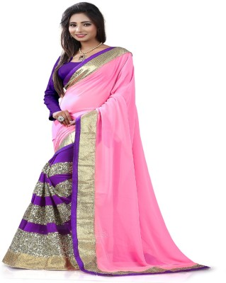 STYLO SAREES Embriodered Bollywood Georgette Sari