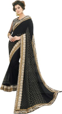 Brijraj Embellished Fashion Net Sari