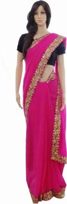 INDIANA FAB Embellished Fashion Pure Chiffon Sari