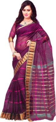 Studio Shringaar Checkered Chanderi Art Silk Sari