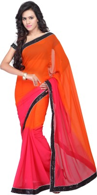 Shree Parmeshwari Solid Bollywood Georgette Sari