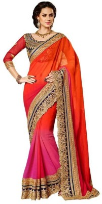 Sanjewga Collection Embriodered, Self Design Fashion Georgette Sari