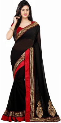 Festive Embriodered Fashion Handloom Georgette Sari