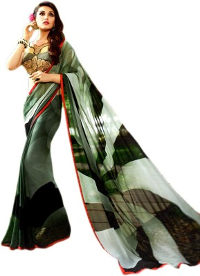 Ganghs Digital Prints Bollywood Georgette Sari