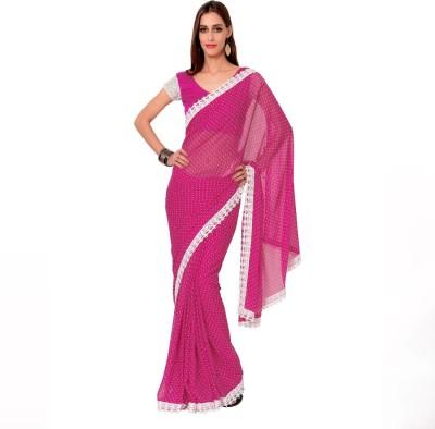 Vastrani Polka Print Fashion Chiffon Sari