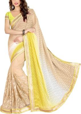 Awesome Self Design Fashion Georgette, Jacquard, Net Sari