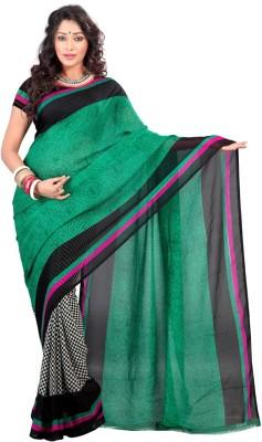 Firstloot Printed Daily Wear Handloom Georgette Sari