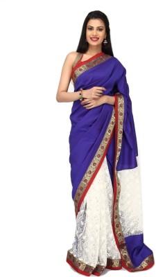 Sujatra Solid Fashion Silk Cotton Blend, Lace Sari