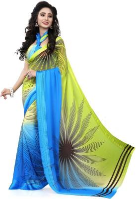 Krishna Prints Floral Print Bollywood Georgette Sari