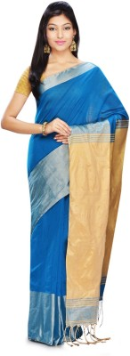 FabIndian Woven Jamdani Handloom Silk Cotton Blend Sari