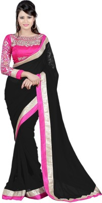 Wama Fashion Embriodered Fashion Georgette Sari
