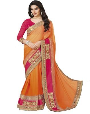 SHS Embriodered Fashion Georgette Sari