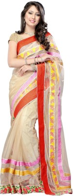 Unique Dresses Printed Fashion Net Sari