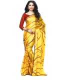 Arisidh Printed Bollywood Synthetic Fabr...