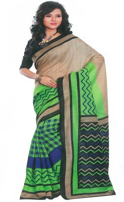 MANSHI FASHION Striped Fashion Cotton Sari