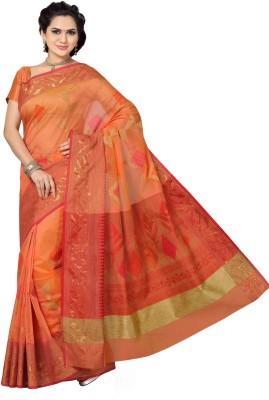 Mann Woven Banarasi Handloom Net Sari