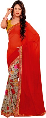 Krizel Trendz Printed Fashion Chiffon Sari