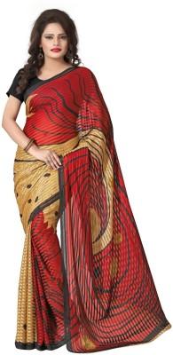 Bansy Fashion Printed Daily Wear Crepe Sari