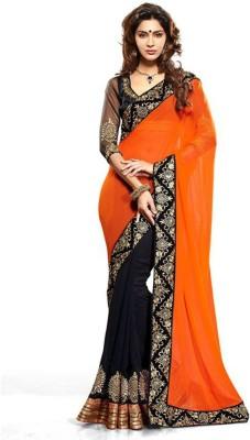 Monu Silk Mills Self Design Bollywood Georgette Sari