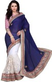 Aasvaa Self Design Fashion Satin Saree (...