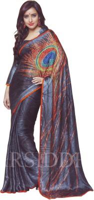 Gajaas Passions Graphic Print Bollywood Crepe Sari