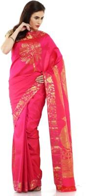 Sudarshan Silks Self Design Kanjivaram Handloom Silk Sari