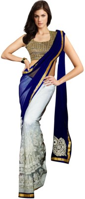 Panash Trends Embriodered Daily Wear Georgette Sari