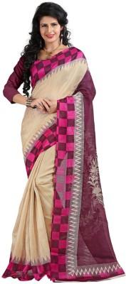 Sbfsarees Printed Bhagalpuri Cotton Sari