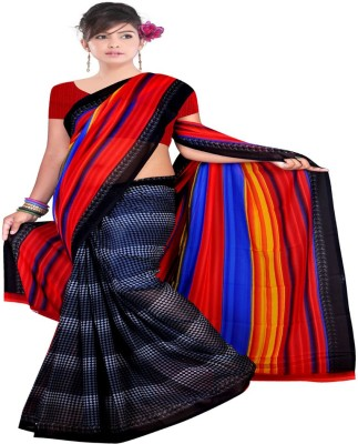 Kristel Garments Checkered Bollywood Georgette Sari