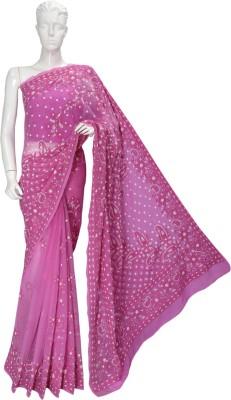 Ada Embriodered Lucknow Chikankari Handloom Georgette Sari