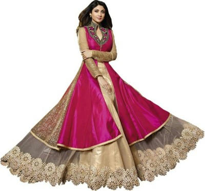 sivermoonfashion Crepe Self Design Lehenga Choli Material